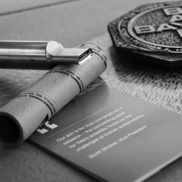 Black and white documents and memoribilia