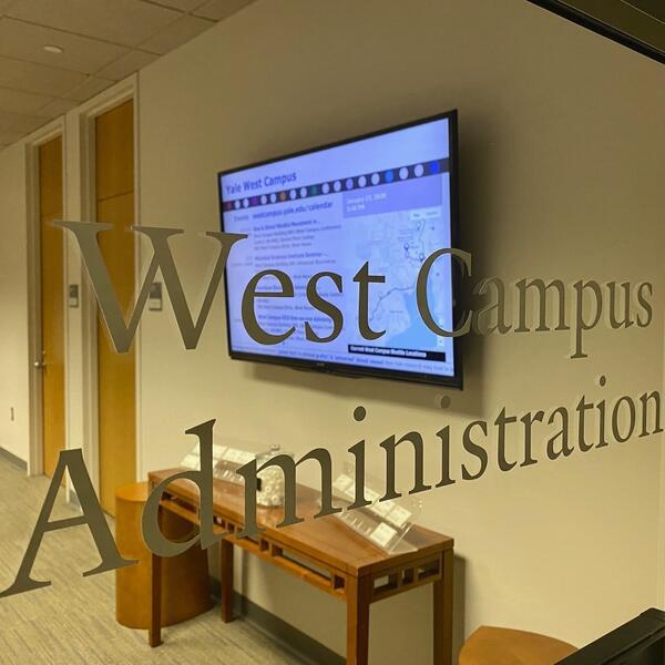 West Campus Administration door signage