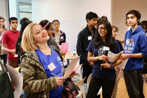 Local high school students gave their ideas on how to communicate cancer biology