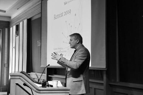 Director Andre Levchenko welcomes scholars