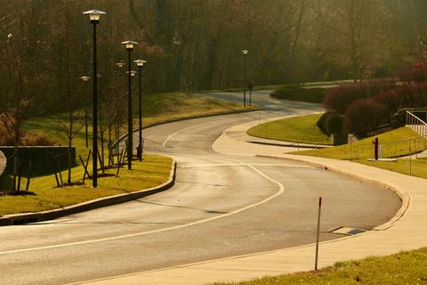 Winding West Campus Drive.