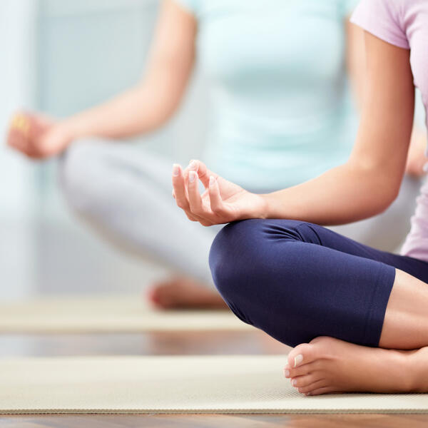 people in yoga pose
